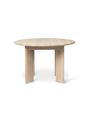 ferm LIVING - Bevel Table - Round Ø117 - White Stained Oak