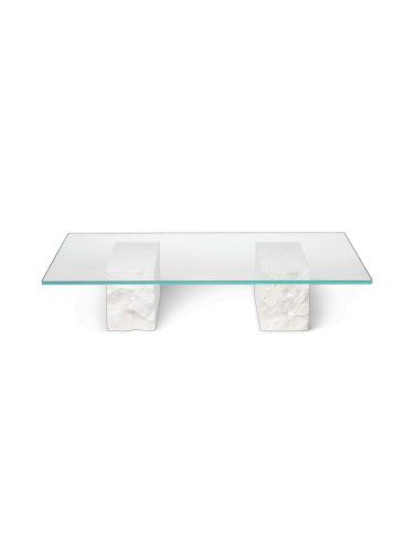 ferm LIVING - Mineral Coffee Table - Bianco Curia