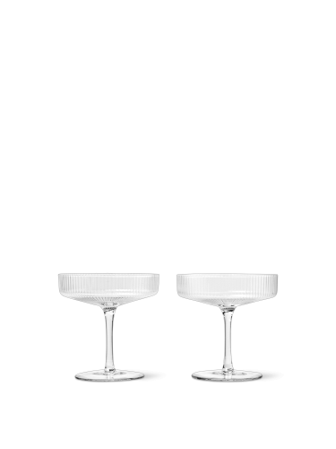 ferm LIVING - Ripple Champagne Saucers - Set of 2