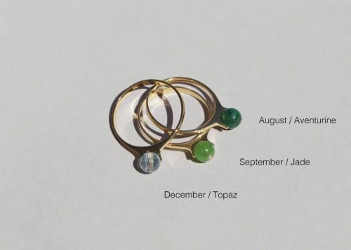 Saskia Diez - Birthday Ring - Topaz
