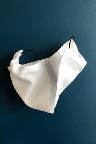 Saskia Diez White Cotton Mask